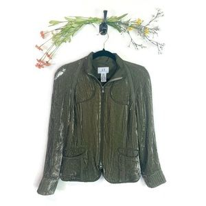 A/X Armani Exchange | Velour Jacket Green Sz Small